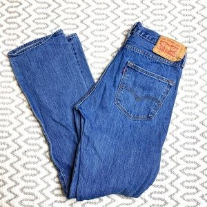 Levi's 501 High Rise Button Fly Jeans Shorts sz 32